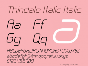 Thindale Italic Italic Version 1.000图片样张