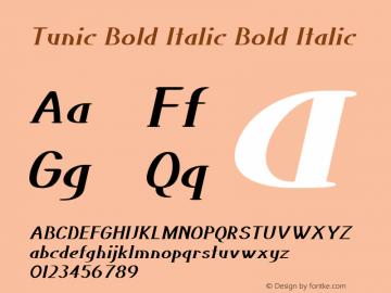 Tunic Bold Italic Bold Italic Version 1.000图片样张