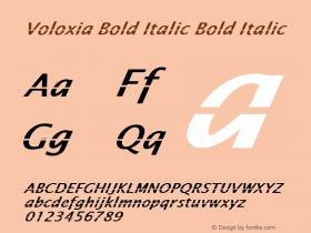Voloxia Bold Italic Bold Italic Version 1.000图片样张