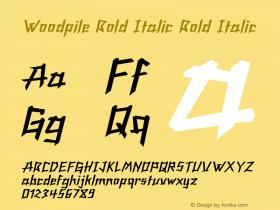 Woodpile Bold Italic Bold Italic Version 1.000图片样张