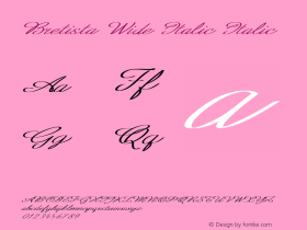 Bretista Wide Italic Italic Version 1.000图片样张