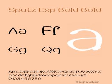 Sputz Exp Bold Bold Version 1.000图片样张