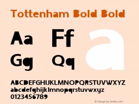 Tottenham Bold Bold Version 1.000图片样张