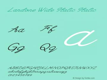 Landone Wide Italic Italic Version 1.000图片样张