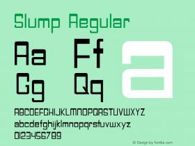 Slump Regular Version 1.000图片样张