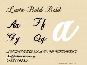 Luvia Bold Bold Version 1.000图片样张