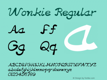 Wonkie Regular Version 1.000图片样张
