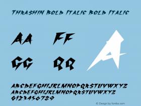 Thrashin Bold Italic Bold Italic Version 1.000图片样张