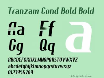 Tranzam Cond Bold Bold Version 1.000图片样张