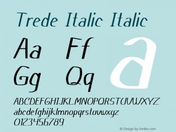 Trede Italic Italic Version 1.000图片样张