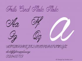 Frillo Cond Italic Italic Version 1.000图片样张