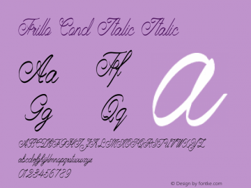 Frillo Cond Italic Italic Version 1.000图片样张