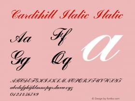 Cardihill Italic Italic Version 1.000图片样张