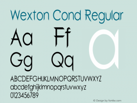 Wexton Cond Regular Version 1.000图片样张