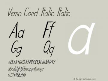 Verno Cond Italic Italic Version 1.000图片样张