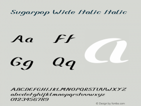 Sugarpop Wide Italic Italic Version 1.000图片样张