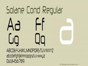 Solane Cond Regular Version 1.000图片样张