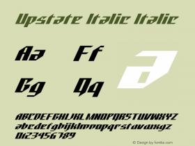 Upstate Italic Italic Version 1.000图片样张