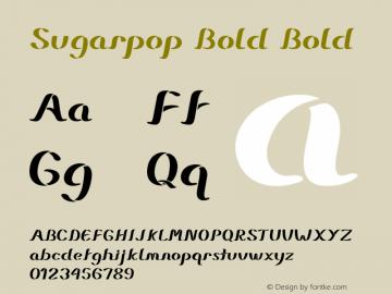 Sugarpop Bold Bold Version 1.000图片样张