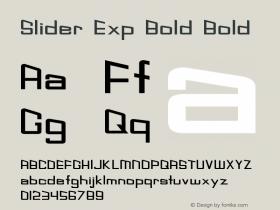 Slider Exp Bold Bold Version 1.000图片样张