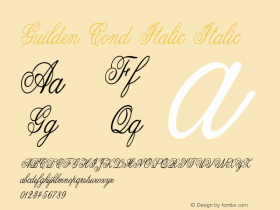 Guilden Cond Italic Italic Version 1.000图片样张