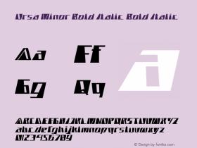 Ursa Minor Bold Italic Bold Italic Version 1.000图片样张