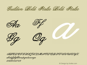 Guilden Bold Italic Bold Italic Version 1.000图片样张