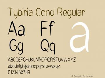 Tybiria Cond Regular Version 1.000图片样张