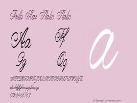 Frillo Nar Italic Italic Version 1.000图片样张