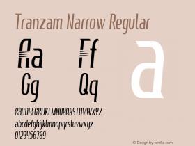 Tranzam Narrow Regular Version 1.000图片样张