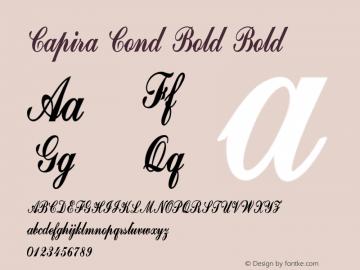 Capira Cond Bold Bold Version 1.000图片样张