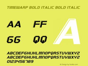 Timewarp Bold Italic Bold Italic Version 1.000图片样张