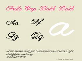 Frillo Exp Bold Bold Version 1.000图片样张