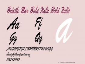 Bristle Nar Bold Italic Bold Italic Version 1.500图片样张