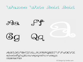 Wazoo Wide Bold Bold Version 1.000图片样张