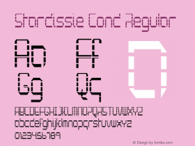 Stardissie Cond Regular Version 1.000图片样张