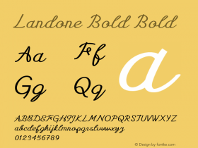 Landone Bold Bold Version 1.000图片样张