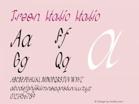 Treon Italic Italic Version 1.000图片样张