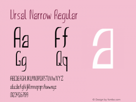 Ursal Narrow Regular Version 1.000图片样张
