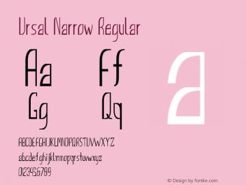 Ursal Narrow Regular Version 1.000图片样张