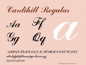 Cardihill Regular Version 1.000图片样张