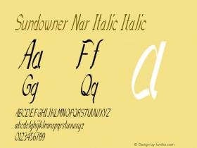 Sundowner Nar Italic Italic Version 1.000图片样张