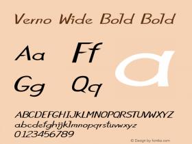 Verno Wide Bold Bold Version 1.000图片样张