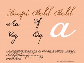 Loopi Bold Bold Version 1.000图片样张