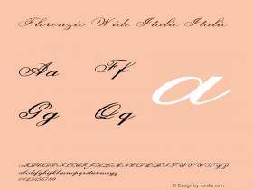 Florenzio Wide Italic Italic Version 1.000图片样张