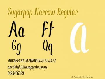 Sugarpop Narrow Regular Version 1.000图片样张
