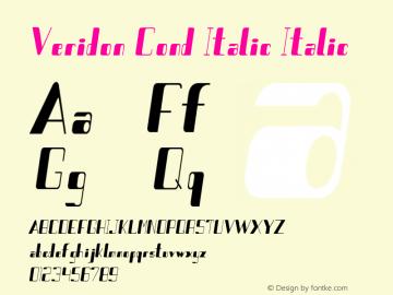 Veridon Cond Italic Italic Version 1.000图片样张