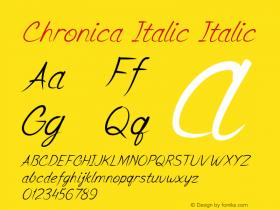 Chronica Italic Italic Version 1.000图片样张