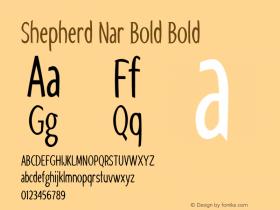 Shepherd Nar Bold Bold Version 1.000图片样张