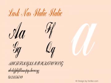 Lark Nar Italic Italic Version 1.000图片样张